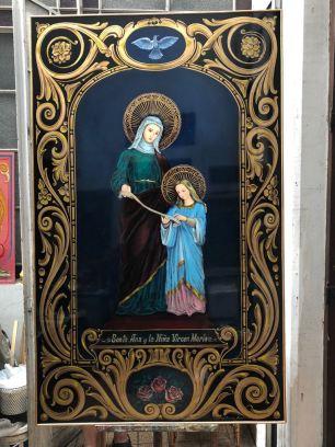 Santa Ana y la Virgen niña, una donación que hizo Martiniano a la Iglesia Santa Ana de Glew, GBA.