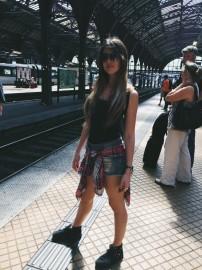 En la estación de trenes