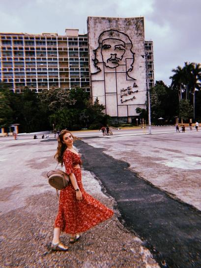 """Ministerio de Seguridad Nacional que tiene la silueta del Che Guevara con su frase """"Hasta la victoria siempre"""""""