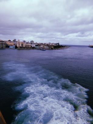 La ciudad desde el barco